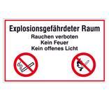 Hinweisschild - Explosionsgefährdeter Raum, Rauchen verboten Produktbild