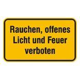 Hinweisschild - Rauchen, offenes Licht und Feuer verboten Produktbild