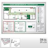 Rahmen für Flucht- und Rettungspläne stabile Ausführung aus Aluminium Produktbild