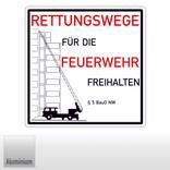 Rettungswege für die Feuerwehr freihalten § 5 BauO NW (Nordrhein Westfalen) Produktbild