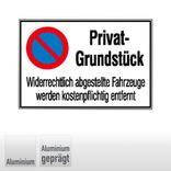 Haltverbotsschild - Privat-Grundstück Produktbild