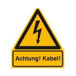 Warn-Kombischild - Achtung! Kabel! Produktbild
