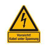 Warn-Kombischild - Vorsicht! Kabel unter Spannung Produktbild