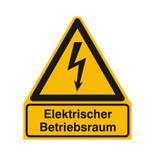 Warn-Kombischild - Elektrischer Betriebsraum Produktbild