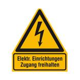 Warn-Kombischild - Elektrische Einrichtungen Zugang freihalten Produktbild