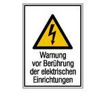 Warn-Kombischild - Warnung vor Berührung der elektrischen Einrichtungen Produktbild