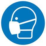 Gebotsschild - Maske benutzen Produktbild