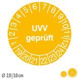 Prüfplakette UVV geprüft - auf Bogen Produktbild