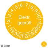 Prüfplakette Elektr. geprüft - auf Bogen Produktbild