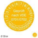 Prüfplakette Geprüft nach VDE 0701/0702 - auf Bogen Produktbild