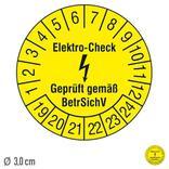 Prüfplakette Elektro-Check Geprüft gemäß BetrSichV - auf Bogen Produktbild