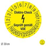 Prüfplakette Elektro-Check Geprüft gemäß VDE - auf Bogen Produktbild