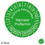 Prüfplakette Prüfung bestanden - Nächster Prüftermin - auf Bogen Produktbild