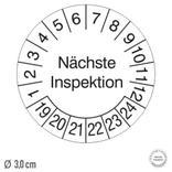 Prüfplakette Nächste Inspektion - auf Bogen Produktbild