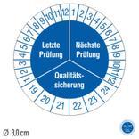 Prüfplakette Letzte Prüfung / Nächste Prüfung - auf Bogen Produktbild