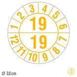 Prüfplakette Prüfplakette Halbjahresplakette mit 2-stelliger Jahreszahl - auf Bogen Produktbild