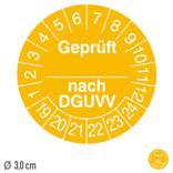 Prüfplakette Geprüft nach DGUVV - auf Bogen Produktbild