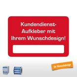 Kundendienst-Aufkleber , 60 x 40 mm, mit Ihrem Wunschdesign Produktbild