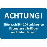 """Hinweis-Etiketten """"Bitte Räder nachziehen"""" Produktbild"""