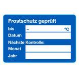 """Service-Etiketten Blau """"Frostschutz geprüft"""" Produktbild"""