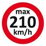 Geschwindigkeitsaufkleber 210 km/h Produktbild