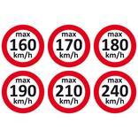 Geschwindigkeitsaufkleber für Winterräder Produktbild