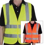 Qualitäts-Warnweste - PLUS - Schulterstreifen - neutral Produktbild