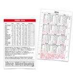 "Scheckkarten-Kalender ""Ferien"" 2016 Produktbild"