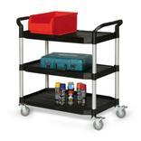 Kunststoff-Etagenwagen mit drei Ladeflächen, Ladefläche 915 × 520 mm Produktbild