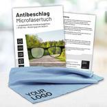 Antibeschlag-Microfasertuch - in 2 Farben - mit Werbeaufdruck - Größe 17 x 14 cm Produktbild