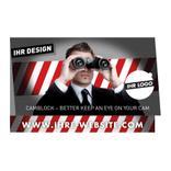 Werbekarte mit Webcam-Sticker als Klappkarte Produktbild