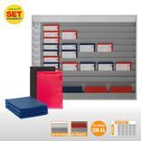 Plantafel-Set groß - mit Wechselleiste - für DIN A4 - für 50 Aufträge + 50 Taschen Produktbild