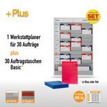 Plantafel-Set mit Zeitstrahl für DIN A4 (30 Aufträge + 30 Taschen) Produktbild