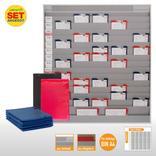 Plantafel-Set - mit Zeitstrahl - für DIN A4 - für 75 Aufträge + 80 Taschen Produktbild
