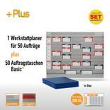 Plantafel-Set mit Zeitstrahl für DIN A5 (50 Aufträge + 50 Taschen) Produktbild