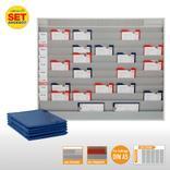 Plantafel-Set - mit Zeitstrahl - für DIN A5 - 50 Aufträge + 50 Taschen Produktbild