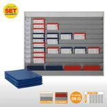 Plantafel-Set - mit Wechselleiste - für DIN A5 - für 50 Aufträge + 50 Taschen Produktbild