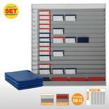 Plantafel-Set - mit Wechselleiste - für DIN A5 - für 75 Aufträge + 80 Taschen Produktbild