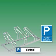 Fahrradständer Parkbügel Parkplatzschilder