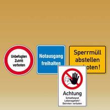 Hinweisschilder Betriebssicherheit