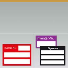 Inventar-Kennzeichnungsetiketten
