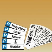 Kennzeichen-Schilder
