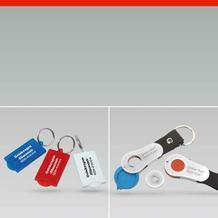 Schlüsselanhänger aus Kunststoff