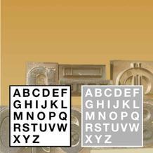 Stanzbuchstaben und Ziffern