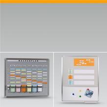 Einsteck- und T-Card Systemtafeln Mehrzwecktafeln
