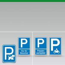 Parkplatz- Beschilderung