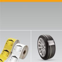 Rädereinlagerungs-Etiketten und Anhänger