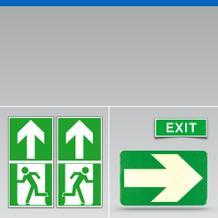 Fluchtweg-Kennzeichnung