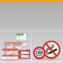 Serviceetiketten / Aufkleber