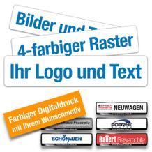 Kennzeichen-Werbeschilder mit mehrfarbigem Digitaldruck
